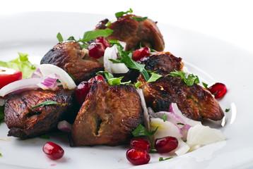 kebab with vegetables