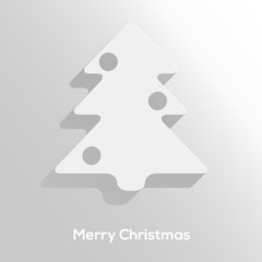 Abstract paper cut christmas tree