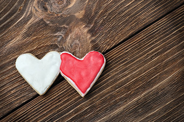 two hearts cookies