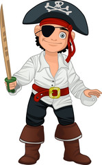 kid dressed as a pirate