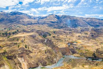 Colca Canyon, Peru,South America. Incas to build Farming terrace