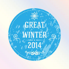 Great winter 2014. Blue. Label.