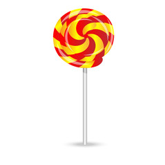 bright lollipop on a white background