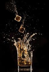 Splashing whiskey
