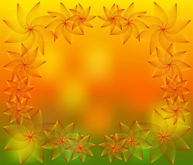 abstract floral background for a design
