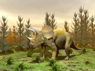 Triceratops dinosaur - 3D render