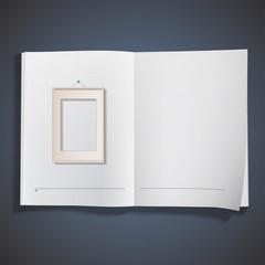 Realistic framework printed on book.