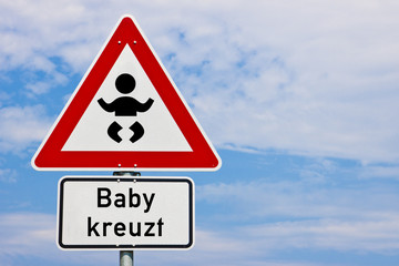 Schild Baby