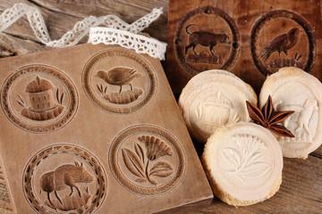 Springerle mit Holzform, cookies