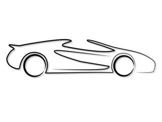Fototapete - Sportwagen Cabrio Roadster Tribal