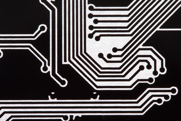 Background with circuit board