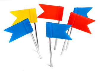 Color flag pins photo, marker push pin