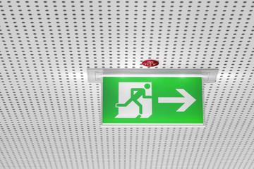 Schild Fluchtweg