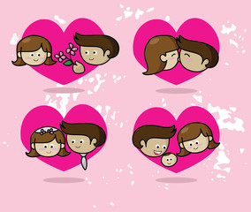 Love story, Couple in love