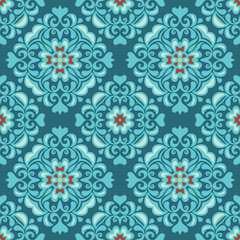 Tiles  seamless ethnic vector pattern