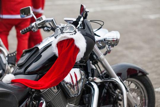 Motorcycle of Santa Claus