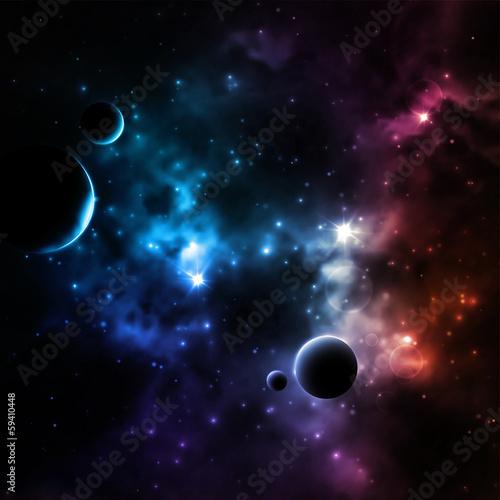 Sticker Galaxy background