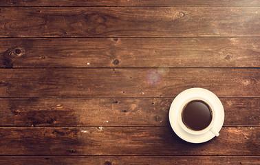 Kaffee Tasse auf Holz Tisch