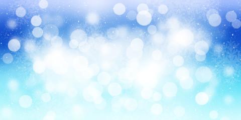 Blurred bokeh christmas background