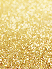 golden background of defocused abstract lights