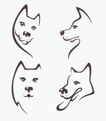 lovely cartoon vector dogs, my favorite pet
