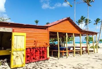 Strandgrill in der Karibik