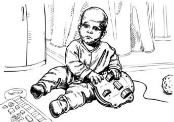 child plays