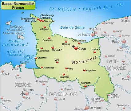 Umgebungskarte von Basse-Normandie