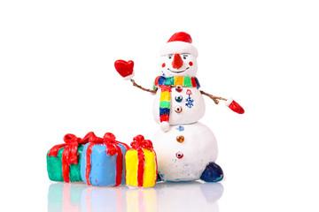 Cute snowman figurine