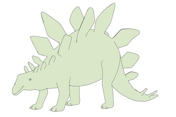 cartoon image of stegosaurus dino