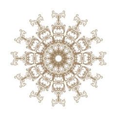 Decorative gold flower with vintage round patterns.....