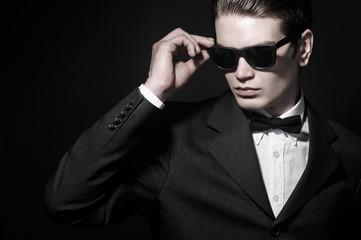fashion portrait of a man in sunglasses