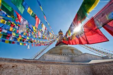 Wall Murals Nepal Boudhanath Stupa
