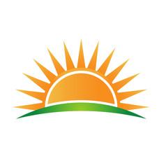 Vector Logo sun horizon