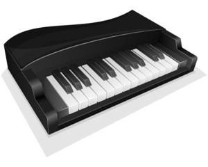 Vector icon. Small black piano