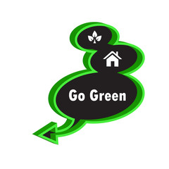 go green on the black speech and earth