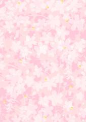 桜濃淡重ね和紙
