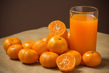 orange fruit refreshment