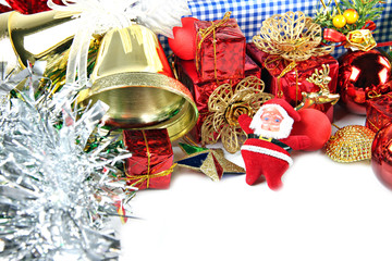 Golden Bells and Accessory decorations of Christmas day.