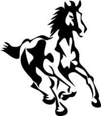 stylized running horse