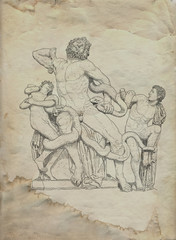 Laocoon sculpture illustration