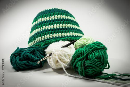 Mütze Häkeln Wolle Häkelnadel Stockfotos Und Lizenzfreie Bilder