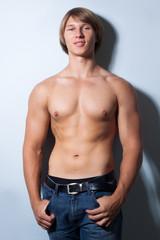 Portrait of muscle man