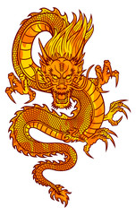 Fire Chinese Dragon