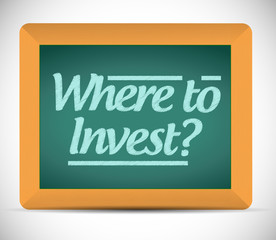 where to invest message on a blackboard