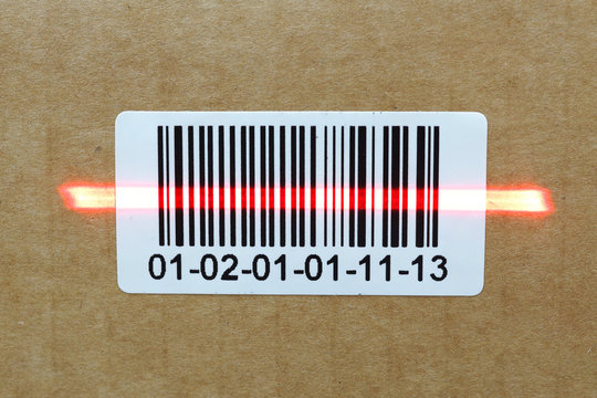 bar code with laser on carton box