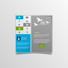 Minimal Clean Website template design