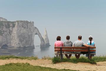 Frankreich - 001 - Etretat - Familie