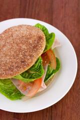sandwich on plate
