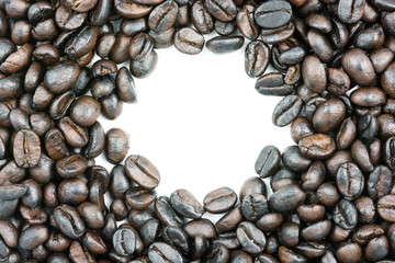 Frame roasted coffee beans